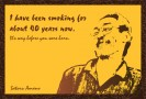 親戚のおっちゃんの喫煙が格好良すぎて作ったポストカードです。